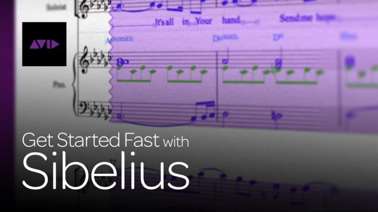 Video: Get started fast with AVID Sibelius
